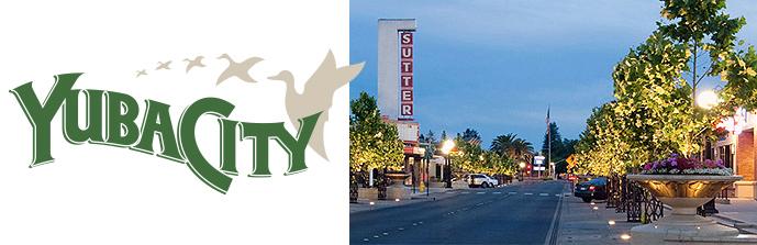 Yuba City Logo street